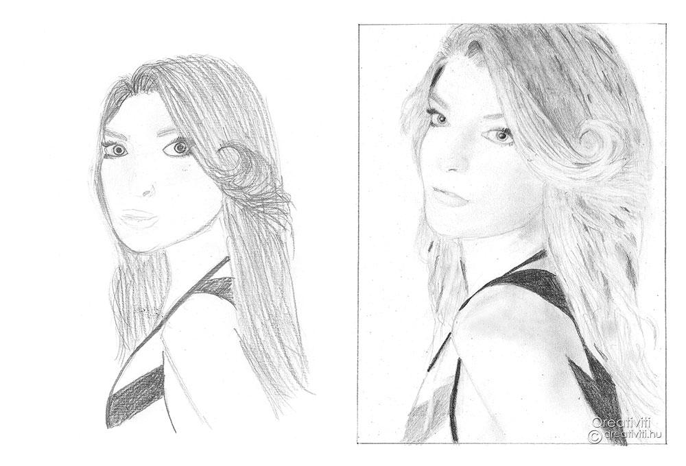 Önarcképek jobb agyféltekés rajzolás tanfolyamunkról